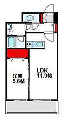福岡県福津市中央2丁目の賃貸マンションの間取り