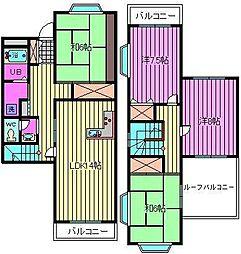 フォレストコートA棟B棟C棟[A202号室]の間取り