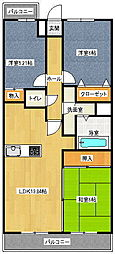 昭和コンフォルト前原[5階]の間取り