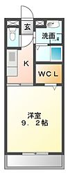 愛知県名古屋市緑区鳴海町字横吹の賃貸アパートの間取り