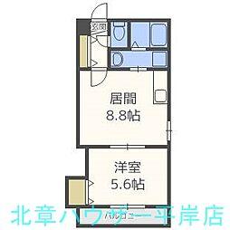ディッセン豊平橋[3階]の間取り