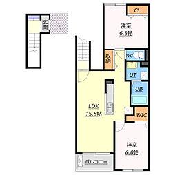 北海道札幌市白石区本通17丁目の賃貸アパートの間取り