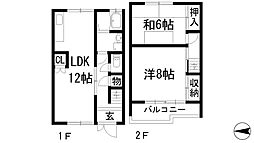 [テラスハウス] 兵庫県宝塚市山本丸橋4丁目 の賃貸【/】の間取り