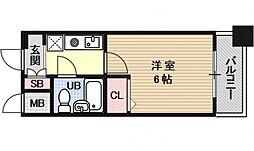 エスリード京都河原町第3[212号室号室]の間取り