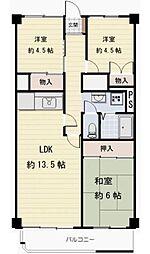 多摩市稲城マンション[1階]の間取り