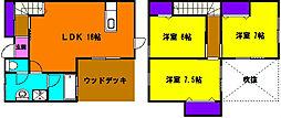 [一戸建] 静岡県浜松市東区植松町 の賃貸【静岡県 / 浜松市東区】の間取り