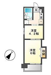 ジョイフル鶴舞[9階]の間取り