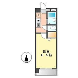 愛知県名古屋市西区新福寺町1丁目の賃貸マンションの間取り