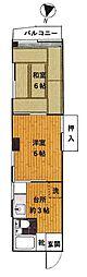 東武東上線 北池袋駅 徒歩3分の賃貸マンション 3階2Kの間取り