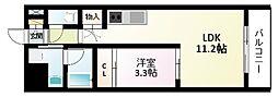 北大阪急行電鉄 緑地公園駅 徒歩8分の賃貸マンション 6階1LDKの間取り