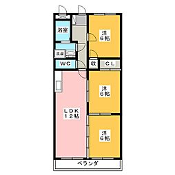 リヴィオン[4階]の間取り