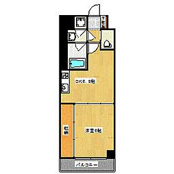 Grand E'terna京都[1813号室]の間取り