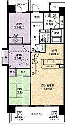 URアーバンラフレ虹ヶ丘西8号棟[7階]の間取り