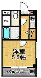 サンパークハイツ[2階]の間取り