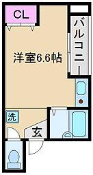 サンモール王子本町[301号室]の間取り