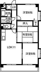 クリスタル藤江[205号室]の間取り