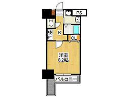 SWISS難波西[2階]の間取り