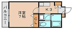 エスポワール筥松[1階]の間取り