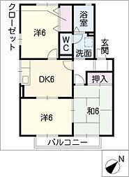 セジュールN・HA棟[2階]の間取り