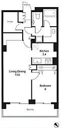 トーキョーオーディアム[6階]の間取り