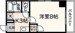 エトワール西村[3階]の間取り