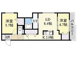 北海道札幌市東区北15条東12丁目の賃貸マンションの間取り