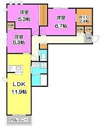 (新築)幸町2丁目シャーメゾン[2階]の間取り