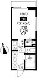 フラッツ神楽坂[202号室号室]の間取り