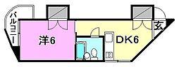 松浦第2ビル[205 号室号室]の間取り