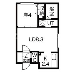 アルーアKOTONI[3階]の間取り