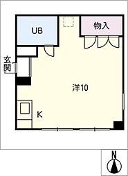 コーポアリオン[1階]の間取り