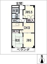 S.D.スクエア[4階]の間取り