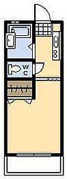 関山第一コーポ[107号室]の間取り