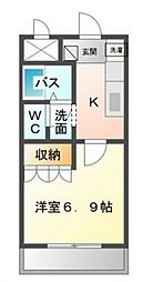 エスポアール堅田[201号室号室]の間取り