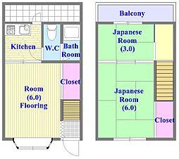 [テラスハウス] 兵庫県神戸市垂水区山手4丁目 の賃貸【/】の間取り