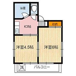 静岡県静岡市葵区本通七丁目の賃貸マンションの間取り