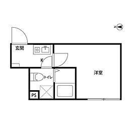 ソフィー川崎[2階]の間取り
