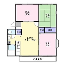 埼玉県草加市金明町の賃貸アパートの間取り