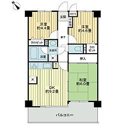 ライオンズマンション聖蹟桜ヶ丘第6[3階]の間取り