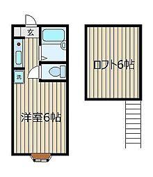 ミヤハウス1号棟[1階]の間取り