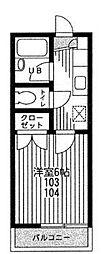 百合ハイツ[1階]の間取り