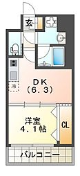 プレジオ江坂II[2階]の間取り