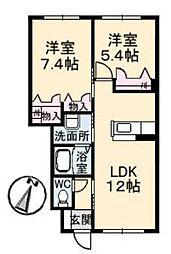 エターナル・グリーンI[1階]の間取り