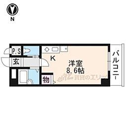 阪急京都本線 京都河原町駅 徒歩6分の賃貸アパート 4階ワンルームの間取り