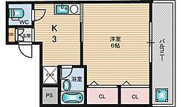 サンライフ淡路[4階]の間取り