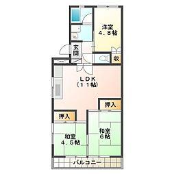 第一石田マンション[1階]の間取り
