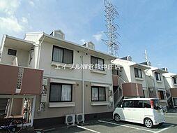 岡山県倉敷市沖新町の賃貸アパートの外観
