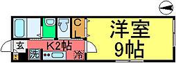 ハイツアヅミノ[2階]の間取り