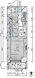 JR埼京線 板橋駅 徒歩3分の賃貸マンション 4階1Kの間取り