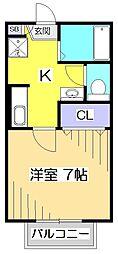 セイント・フジ[2階]の間取り